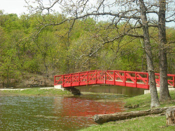 The red bridge at Wildwood