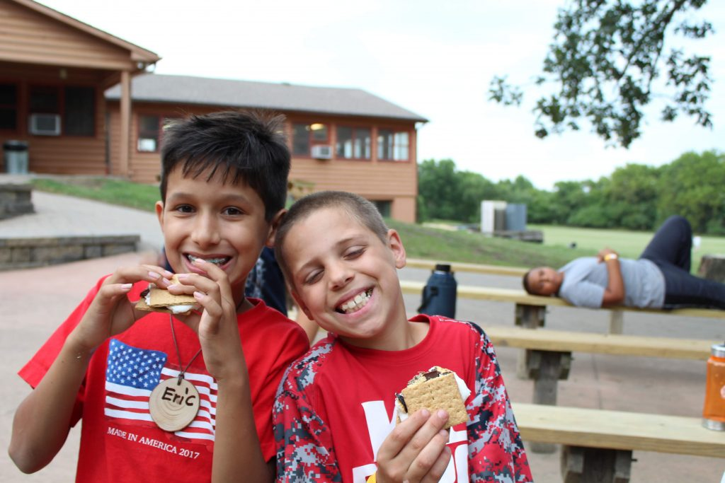 campers and s'mores