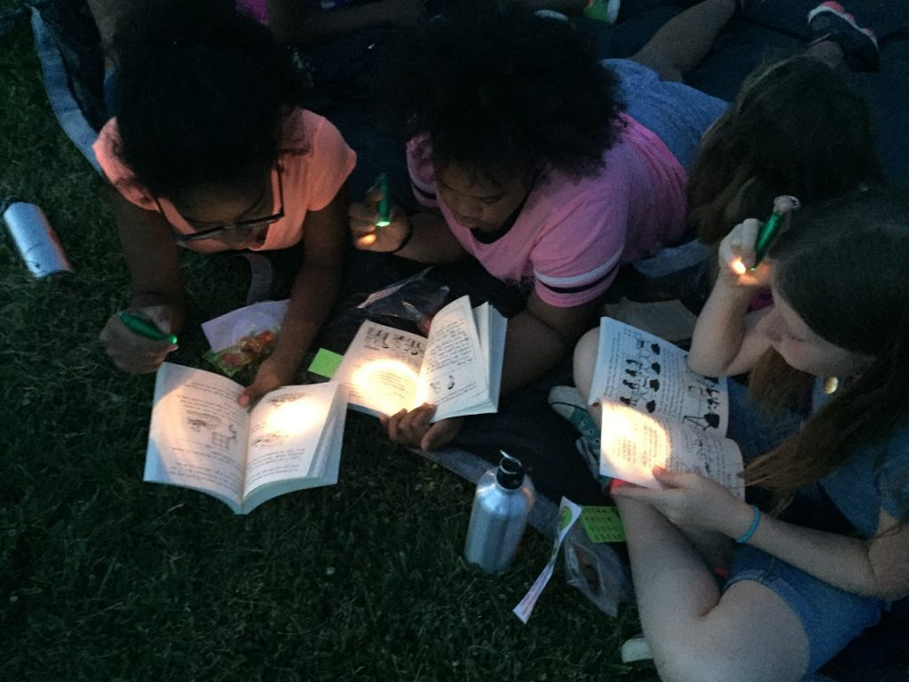 Campers at Firefly Reading