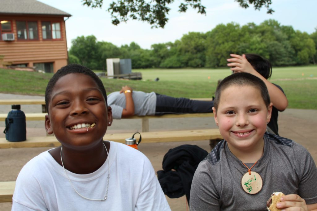 Campers make make friends quickly at Wildwood.