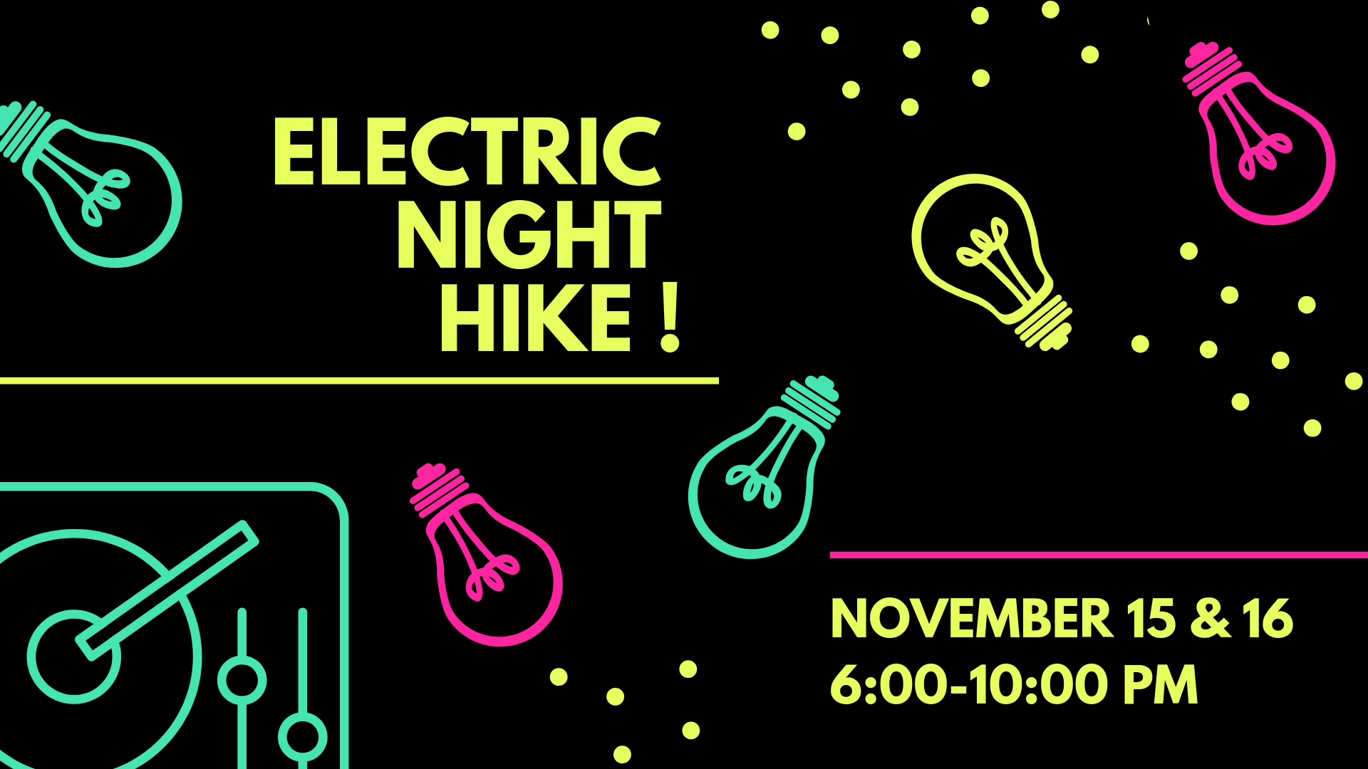 wildwood's electric night hike