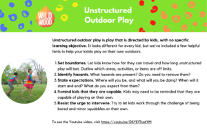 Unstructured Outdoor Play