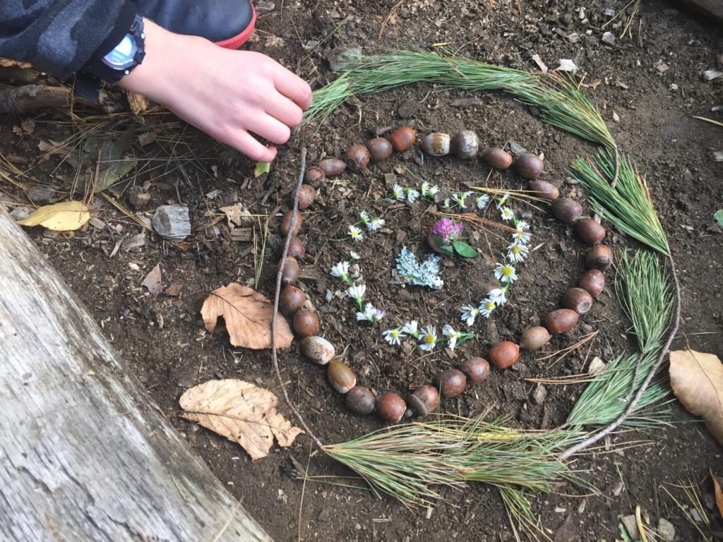mindfulness activity: nature art