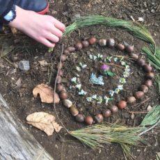 mindfulness activity: nature art