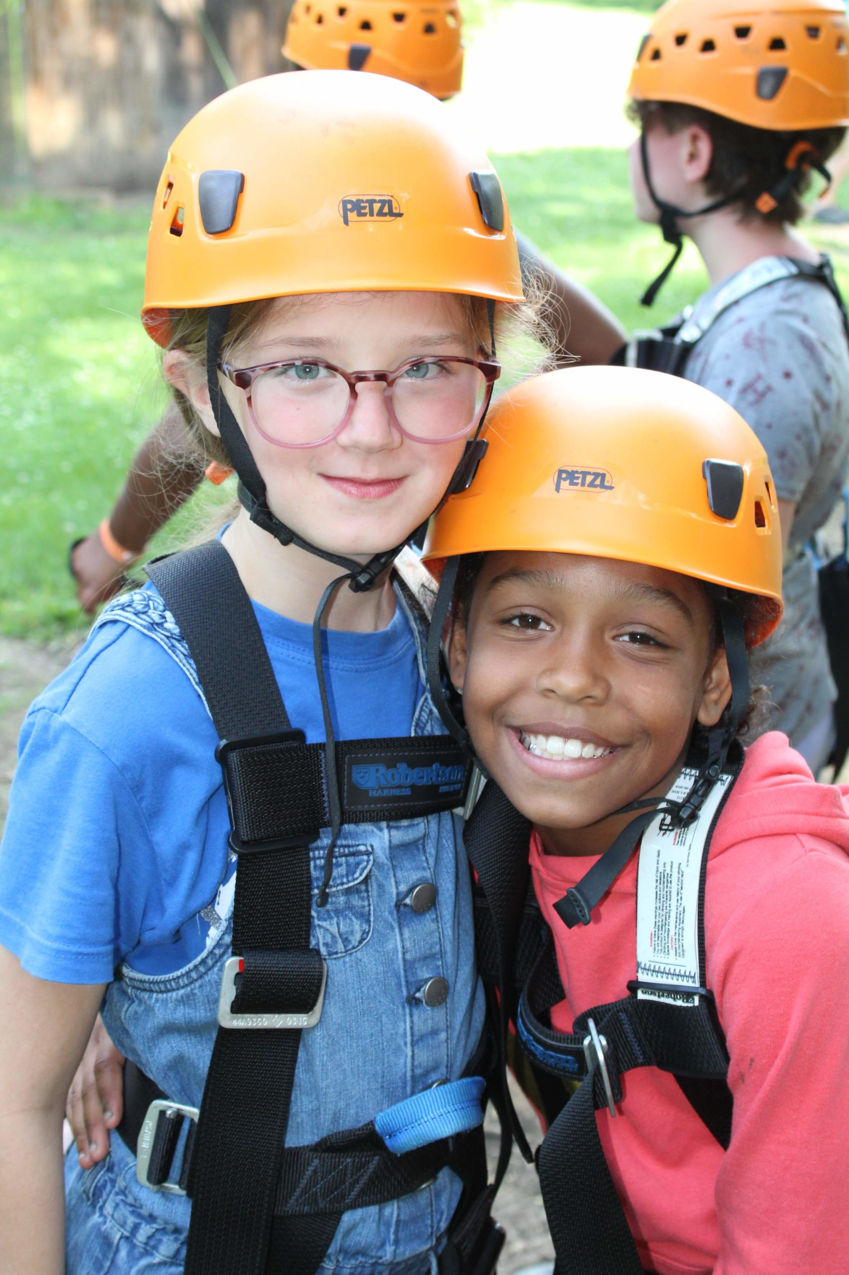 Wildwood campers ready for high ropes